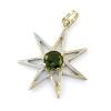 Moldavite Seven Pointed Star Pendant