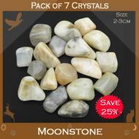 Pack of 7 Moonstone Tumble Stones