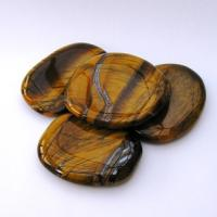 Gold Tigers Eye Palm Stones