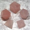 Rose Qtz Sacred Geometry Crystals