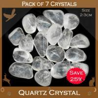 Pack of 7 Quartz Tumble Stone Crystals