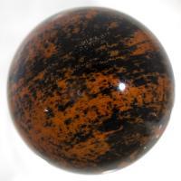 Mahogany Obsidian 35mm sphere