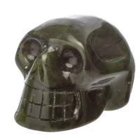 Nephrite Jade Crystal Skulls No3
