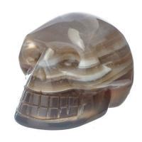 Grey Agate Crystal Skull No3