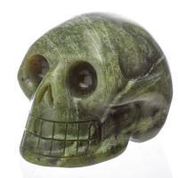 Nephrite Jade Crystal Skulls No6