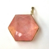 Rose Quartz Star of David Pendant