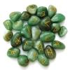 Aventurine Runes Stone Set