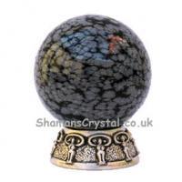Obsidian Snowflake Sphere 35mm