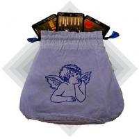 Angel Blue Velour Tarot Bag