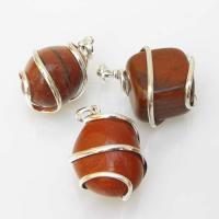 Red Jasper Tumble Stone Coil Pendant