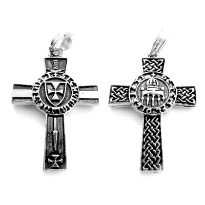 Cross of knights templar pendant silver pewter magical pendants cross of knights templar pendant aloadofball Image collections