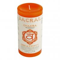 Navel Chakra Candle by Crystal Journey