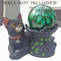Black Cat Crystal Ball Holder