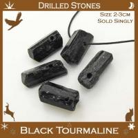 Drilled Black Tourmaline Points