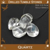 Side Drilled Quartz Tumbled Stones