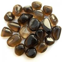 Smoky Quartz Tumble Stones - Dark