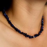 "24"" Sodalite Chip Necklace"