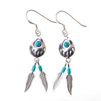 Turquoise Bear Track Earrings