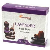 Lavendar Backflow Incense Cones Pack of 10 Cones