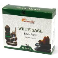 White Sage Backflow Incense Cones Pack of 10 Cones