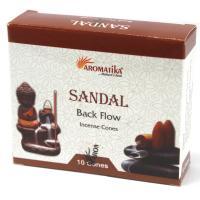 Sandalwood Backflow Incense Cones Pack of 10 Cones