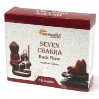 7 Chakras Backflow Incense Cones Pack of 10 Cones