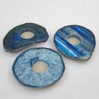 Blue Agate Slab T-Lite Candle Holder