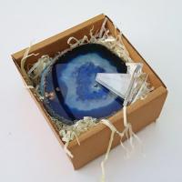 Agate Slice in Gift Box - Blue
