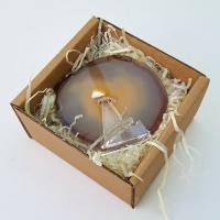 Agate Slice in Gift Box - Natural