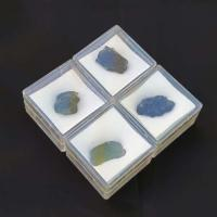 Small Moldavite Pieces  in Specimen Box