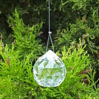Feng Shui Hanging Crystal Clear Spheres 60mm