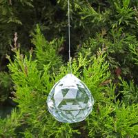 Feng Shui Hanging Crystal Clear Spheres 40mm