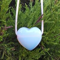Drilled Opalite Heart Pendant