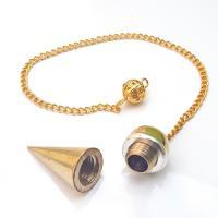 Chambered Cone Brass Pendulum