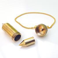 Large Chambered Brass Pendulum