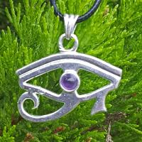 Amethyst Eye of Horus Pendant SP