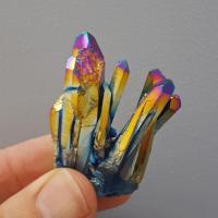Titanium Rainbow Aura Crystal Group #B1