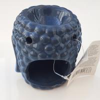 Buddha Head Oil Burner - Blue