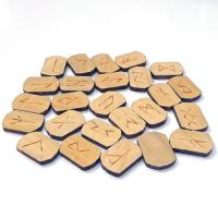 Hand Made Wood Runes Stone Set