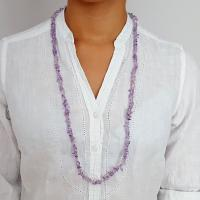 """36"""" Amethyst Chip Necklace"""