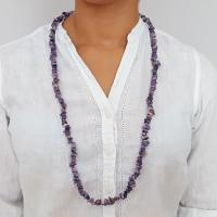 "36"" Charoite Chip Necklace"