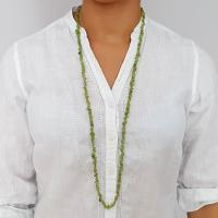"36"" Peridot Chip Necklaces"