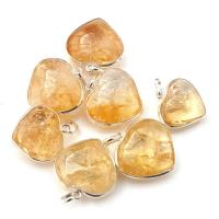 Citrine Heart Pendant Surround Mount