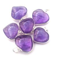 Amethyst Heart Pendant Surround Mounted