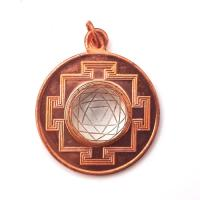 Copper & Quartz Sri Yantra Pendant