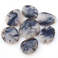 Black Tourmaline in Quartz Palm Stones