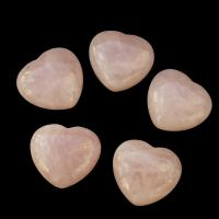 Rose Quartz Puff Heart 40mm