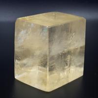 Golden Optical Calcite Rhombohedron No2