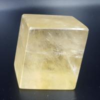 Golden Optical Calcite Rhombohedron No3