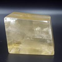 Golden Optical Calcite Rhombohedron No10